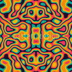 Psychedelic Liquid Seamless Vector Pattern Design