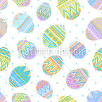 Beauty Of Easter Eggs Seamless Vector Pattern Design