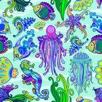 Lebendes Meer Vektor Ornament