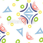Happy Doodle Shapes Vector Pattern