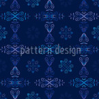 Renaissance Crystal Blue Seamless Vector Pattern Design