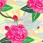 Damask Rose Vector Design
