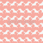 Unicorn Silhouettes Repeating Pattern