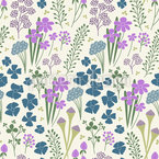 Flower Romanticism Repeat Pattern