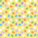 Rolling Around Easter Eggs Design Pattern