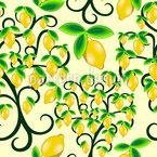 Zitronenbaum Nahtloses Vektor Muster