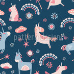 Unicorns And Rainbows Seamless Vector Pattern Design