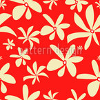Blüten Impressionen Nahtloses Vektormuster