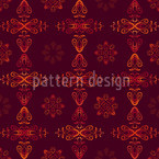 Renaissance Crystal Red Seamless Vector Pattern Design