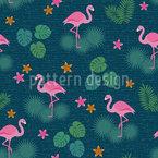Tropischer Flamingo und Monstera Designmuster