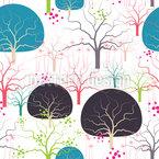Wild Forest At Dawn Pattern Design