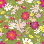 Wilde Gänseblümchen Musterdesign