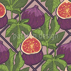 Sweet Summer Figs Vector Pattern