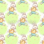 Beschäftigte Hasen Muster Design
