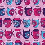曼荼羅マグカップ シームレスなベクトルパターン設計