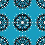 Circular Arrangement Seamless Vector Pattern Design