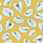 Fallende Philodendronblätter Nahtloses Vektormuster