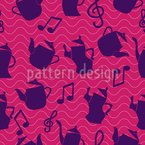 Dancing Tea Pots Seamless Vector Pattern Design
