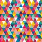 Circus Triangles Seamless Vector Pattern Design