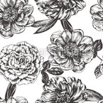 Peonies And Roses Design Pattern