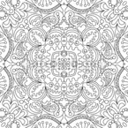 Flattering Outlines Seamless Pattern