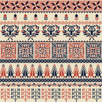 Traditional Embroidery Bordures Seamless Vector Pattern Design