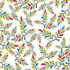 Artistic Leaf Seamless Vector Pattern Design