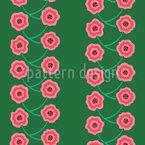Fleurs emmêlées Motif Vectoriel Sans Couture