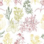Herbes Motif Vectoriel Sans Couture