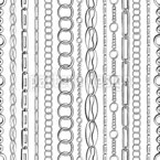Vertical Chains Seamless Vector Pattern