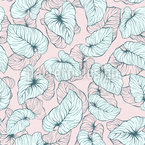 Süße Philodendron-Blätter Vektor Muster
