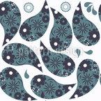 Kalte Paisleys Rapportiertes Design