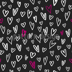 Hand-drawn Hearts Pattern Design