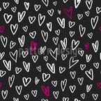 Handgezeichnete Herzchen Muster Design