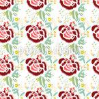 Stickerei Rosen Musterdesign