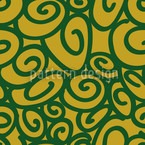 Beginning And End Green Seamless Vector Pattern Design