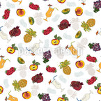 Fruits And Cocktails Seamless Vector Pattern Design
