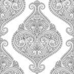 Orientalische Blattform Vektor Ornament