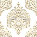 Linhas florescendo Design de padrão vetorial sem costura