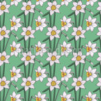 Narcissus Floral Nahtloses Vektormuster