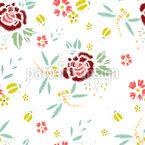 Stickerei Blüte Nahtloses Vektormuster