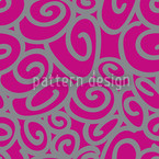 Beginning And End Magenta Seamless Vector Pattern Design