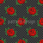 Rockabilly Roses Repeating Pattern