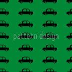 Schöne Autos Nahtloses Vektormuster