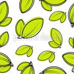 Pair Of Leaves Seamless Vector Pattern Design