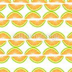 Citrus suculento Design de padrão vetorial sem costura