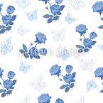 Mille Fleurs Rosen Nahtloses Vektormuster