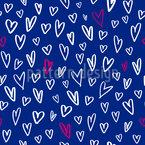 Coeurs dessinés Motif Vectoriel Sans Couture