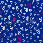 Gezeichnete Herzchen Musterdesign
