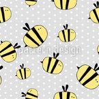 Süsse Biene Vektor Muster